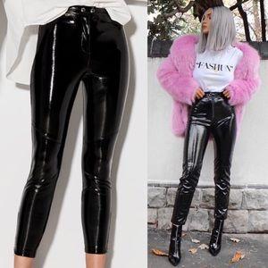 Bershka Special Edition Pleather Skinny Crop Pants
